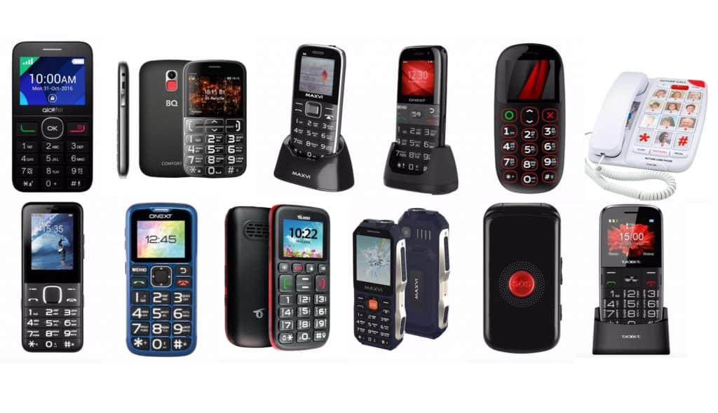Сотовые телефоны для слабовидящих пожилых людей